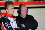 Max Chilton, Marussia F1 Team Test Driver with father Grahame Chilton