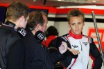 Max Chilton, Marussia F1 Team Test Driver, with his father Grahame Chilton