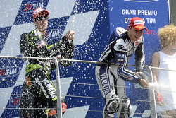 Podium: race winner Jorge Lorenzo, Yamaha Factory Racing, third place Andrea Dovizioso, Yamaha Tech 4