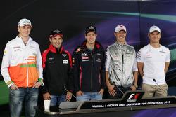 Nico Hulkenberg, Sahara Force India Formula One Team, Timo Glock, Marussia F1 Team, Sebastian Vettel, Red Bull Racing, Michael Schumacher, Mercedes GP, Nico Rosberg, Mercedes GP