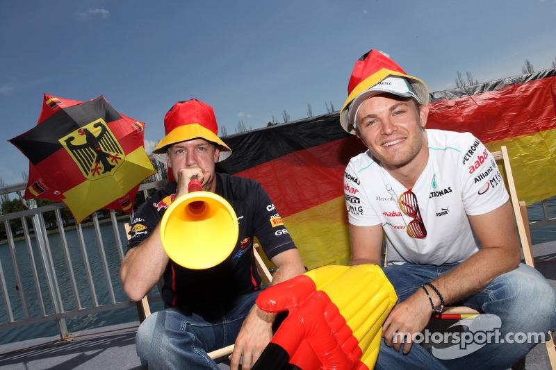 German Grand Prix preview, Sebastian Vettel, Red Bull Racing and Nico Rosberg, Mercedes AMG Petronas (during the Canadian GP weekend)