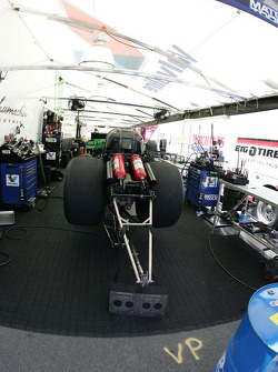 Stewart Massey's Top Fuel Funny Car is preped and ready.