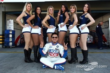 Grid Girls and Charles Ng, BMW 320 TC, Liqui Moly Team Engstler