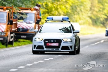 Audi RS5 Medical car brings up the rear