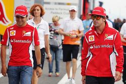 Felipe Massa, Ferrari with teammate Fernando Alonso, Ferrari