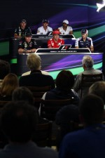 The FIA Press Conference, Caterham; Kamui Kobayashi, Sauber; Narain Karthikeyan, Hispania Racing F1 Team, Lotus F1 Team; Fernando Alonso, Ferrari; Pastor Maldonado, Williams