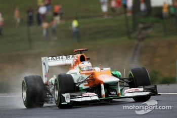 Paul di Resta, Sahara Force India in the wet