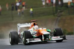 Paul di Resta, Sahara Force India in the wet