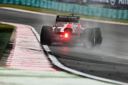 Timo Glock, Marussia F1 Team catches a slide in the wet