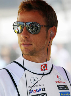 Jenson Button, McLaren on the grid