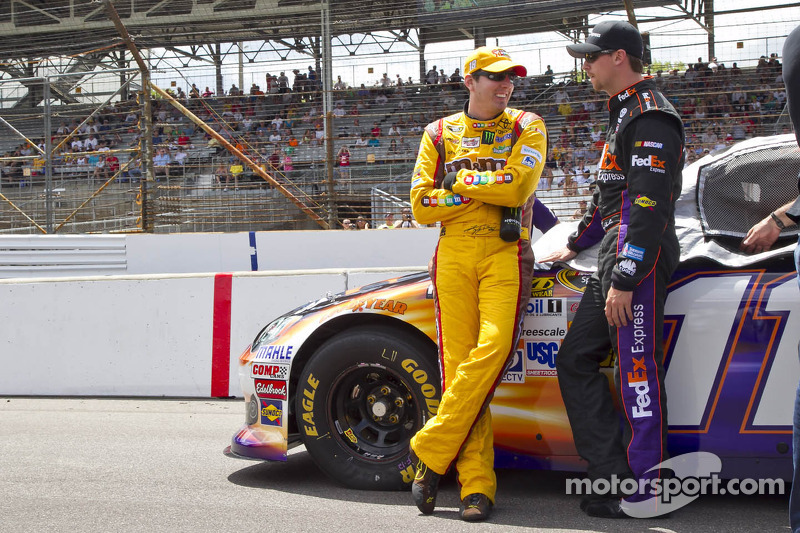Kyle Busch and Denny Hamlin