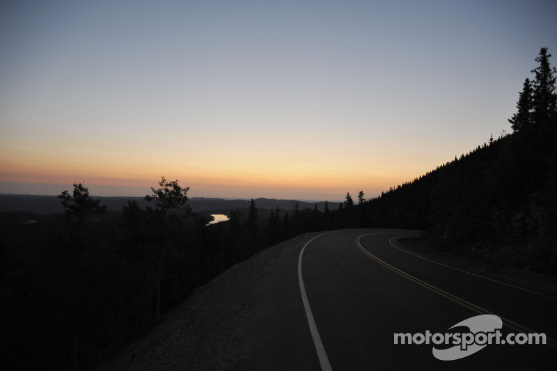 Pre-dawn schene on the lower portion of Pikes Peak toll road