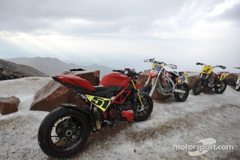 Bikes under the snow