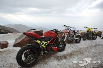 Bikes under the snow