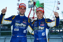 GT500 second place Andrea Caldarelli and Yuji Kunimoto