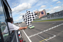 #44 Raeder Motorsport Audi R8 LMS ultra: Frank Biela, Christian Hohenadel, Thomas Mutsch takes the win