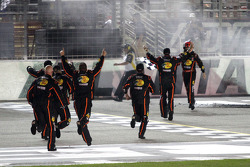 Race winner Ty Dillon celebrates with his crew