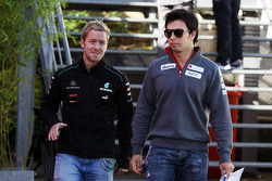 Sam Bird, Mercedes AMG F1 Test And Reserve Driver with Sergio Perez, Sauber