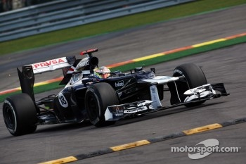 Pastor Maldonado, Williams runs wide