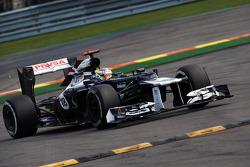 Pastor Maldonado, Williams runs wide