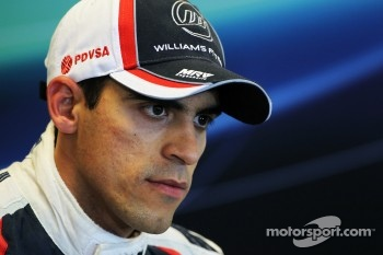 Pastor Maldonado, Williams in the post qualifying FIA Press Conference