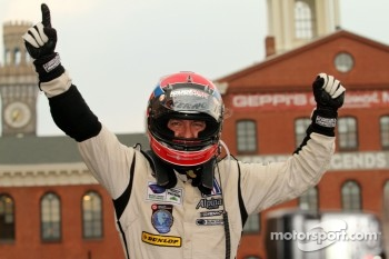 Race winner Christophe Bouchut celebrates