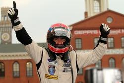 Race winner Christophe Bouchut celebrates