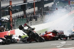 Start of the Belgian Formula One race, 2012