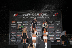 Podium: winner Rhys Millen, second place Vaughn Gittin Jr., third place Fredric Aasbo