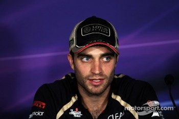 Jérôme d'Ambrosio, Lotus F1 Team in the FIA Press Conference