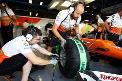 Sahara Force India F1 Team mechanics