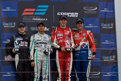Podium from left: Spike Goddard, Jazeman Jaafar, Alex Lynn and Jack Harvey