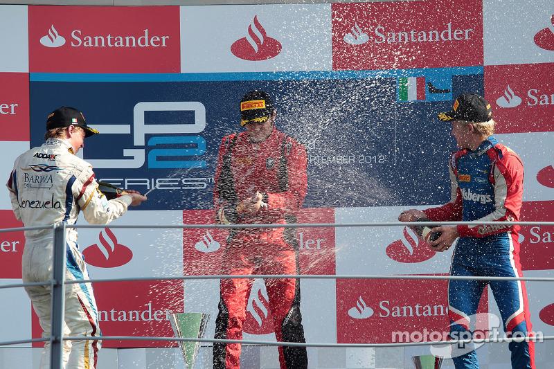 Podium: winner Luca Filippi, second place Johnny Cecotto, third place Marcus Ericsson