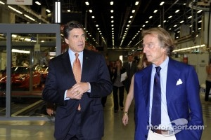 Texas Gov. Rick Perry meets with Luca di Montezemolo