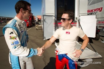 Simon Pagenaud, Schmidt/Hamilton Motorsports Honda and Wade Cunningham, A.J. Foyt Racing Honda