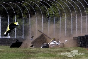 Heavy crash for #8 Merchant Services Racing Oreca FLM09