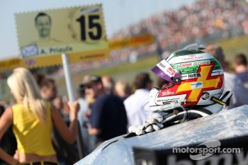 Helmet of Andy Priaulx, BMW Team RBM BMW M3 DTM