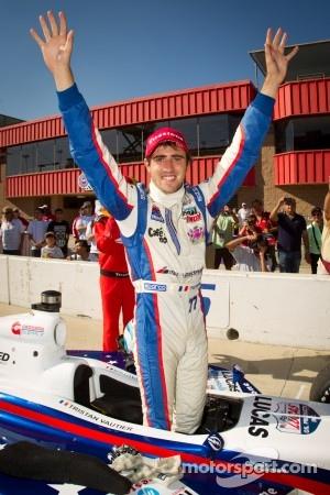 Indy Lights series 2012 champion Tristan Vautier, Sam Schmidt Motorsports celebrates