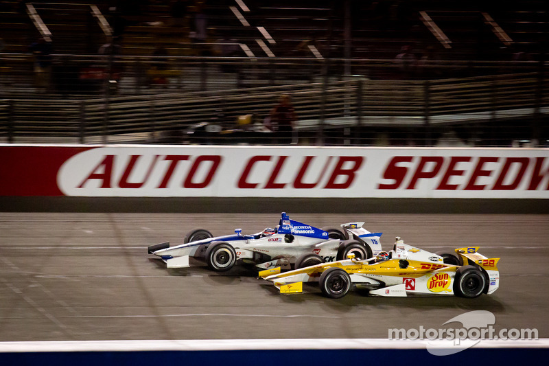 Takuma Sato, Rahal Letterman Lanigan Honda and Ryan Hunter-Reay, Andretti Autosport Chevrolet