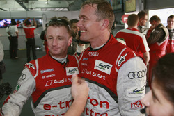 Polesitter Allan McNish and second place Marcel Fässler