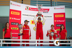 458TP podium: class and overall winner #24 Ferrari of Beverly Hills 458TP: Carlos Kauffmann, second place #8 Ferrari of Ft Lauderdale 458TP, third place #68 Ferrari of San Francisco 458CS: Mike Hedlund