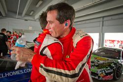 Race winner #31 Ferrari of Ontario 458CS: Damon Ockey celebrates with #458 Ferrari of Beverly Hills 458TP: Kevin Marshall