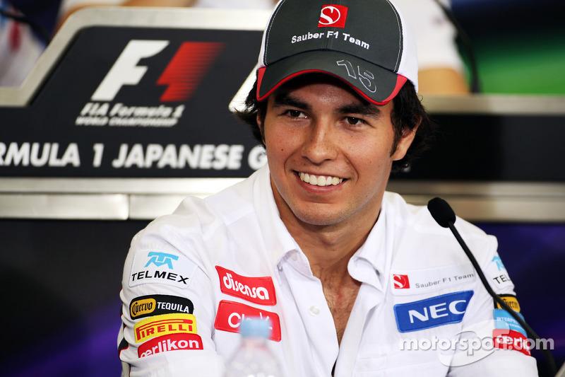 Sergio Perez, Sauber in the FIA Press Conference