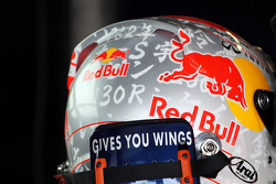 Sebastian Vettel, Red Bull Racing with Japanese themed helmet