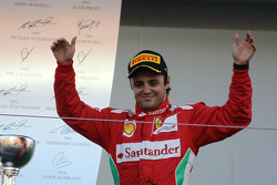 second place for Felipe Massa, Scuderia Ferrari