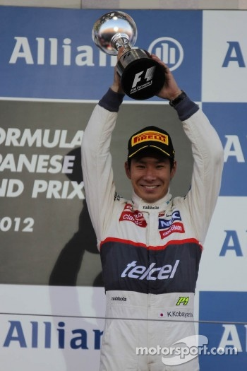 third place for Kamui Kobayashi, Sauber F1 Team