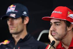 Fernando Alonso, Scuderia Ferrari and Mark Webber, Red Bull Racing