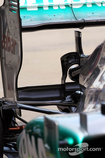 Mercedes AMG F1 rear wing detail