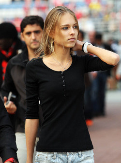 Dasha Kapustina, girlfriend of Fernando Alonso, Ferrari