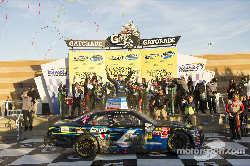 Victory lane: race winner Ricky Stenhouse Jr.